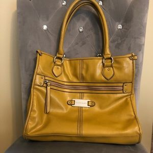 Franco Sarto Mustard Shoulder Bag